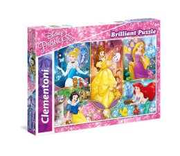 Clementoni Puzzle Disney Brilliant Princess 104 el. (20140)
