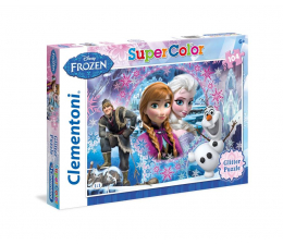 Clementoni Puzzle Disney Frozen Glitter 104 el. z brokatem (27248)