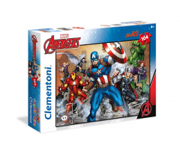 Clementoni Puzzle Disney Maxi Super Kolor The Avengers 104 el. (23985)