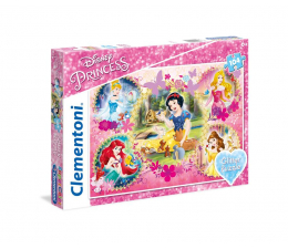 Clementoni Puzzle Disney Princess 104 el. z brokatem (20134)