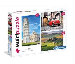 Clementoni Puzzle Italy 3x1000 el.  (08011)
