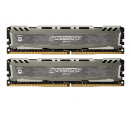 Crucial 16GB 3200MHz Ballistix Sport LT Gray CL16 (2x8GB) (BLS2K8G4D32AESBK)