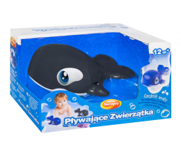 Dumel Discovery Pływające Zwierzątka Wieloryb 4301 (DD 4301 CZARNY)