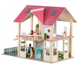 ECOTOYS Domek dla lalek meble + 4 lalki (4103)