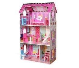 ECOTOYS Duży domek dla lalek Rezydencja Poziomkowa (DH617)