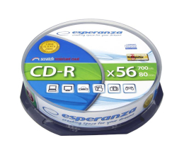 Esperanza 700MB/80min. Audio CD 56x CAKE 10szt. (5905784760032 / 2006)