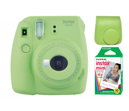 Fujifilm Instax Mini 9 zielony + wkład 10PK + pokrowiec (5036321125301)
