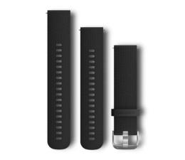 Garmin Pasek silikonowy czarno-srebrny do koperty 20mm (010-12561-02)