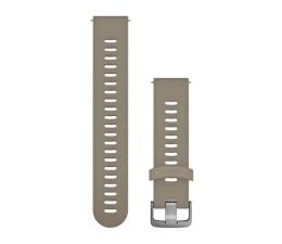 Garmin Pasek silikonowy piaskowo-srebrny do koperty 20mm (010-11251-0Z)