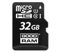 GOODRAM 32GB microSDHC zapis 10MB/s odczyt 60MB/s (SDU32GHCUHS1AGRR10 / M1AA-0320R11)