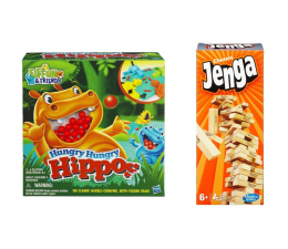 Hasbro Jenga + Głodne Hipcie