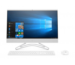 HP 24 AiO i3-8130U/8GB/240/Win10 IPS  (24-f0017nw (5RA81EA)-White-240 SSD)