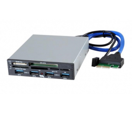 """iBOX Czytnik kart pamięci SD 3,5"""" 4 x USB 3.0 (ICKWFCB019)"""