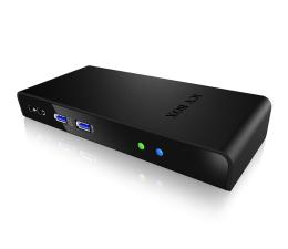 ICY BOX Stacja dokująca 6xUSB 3.0, 3.5mm, HDMI, DVI, RJ-45 (IB-DK2241AC)