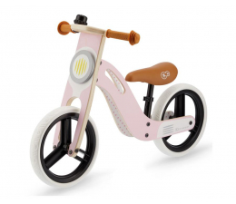 Kinderkraft Drewniany rowerek biegowy UNIQ Pink (KKRUNIQPNK0000)