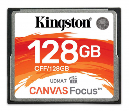 Kingston 128GB Canvas Focus zapis :130MB/s odczyt :150MB/s (CFF/128GB)