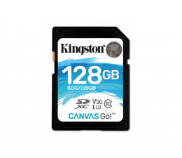 Kingston 128GB SDXC Canvas Go! 90MB/s C10 UHS-I U3  (SDG/128GB)