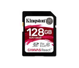 Kingston 128GB SDXC Canvas React 100MB/s C10 UHS-I U3 V30  (SDR/128GB)