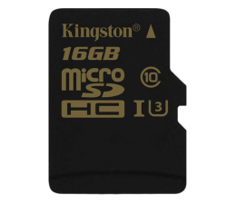 Kingston 16GB microSDHC UHS-I U3 zapis 45MB/s odczyt 90MB/s (SDCG/16GB)