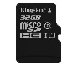 Kingston 32GB microSDHC Class10 zapis 10MB/s odczyt 45MB/s (SDC10G2/32GB)