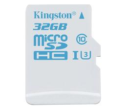 Kingston 32GB microSDHC UHS-I U3 zapis 45MB/s odczyt 90MB/s (SDCAC/32GB)