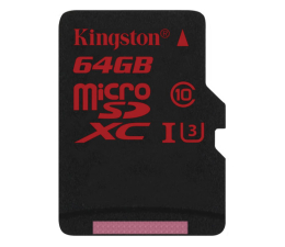 Kingston 64GB microSDXC UHS-I U3 zapis 80MB/s odczyt 90MB/s (SDCA3/64GB )