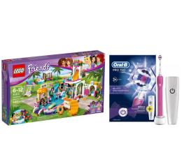 LEGO Friends Basen w Heartlake + Oral-B PRO 750 Pink (343307+320204)