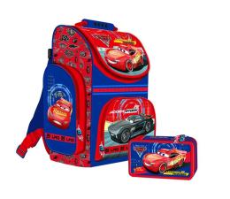 Majewski Disney Cars 3 Tornister szkolny + piórnik z wyp. (92354 92163)