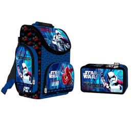 Majewski Disney Tornister Star Wars VIII + piórnik (21989 22009)