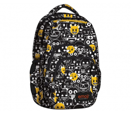 Majewski Plecak szkolny 4 komory Emoji Black BP-25 (5903235242090)