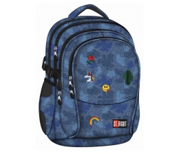 Majewski ST.Right Plecak szkolny Jeans & Badges BP-01 (5903235618727)