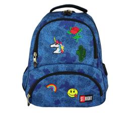 Majewski ST.Right Plecak szkolny Jeans&Badges  BP-07 (5903235618734)