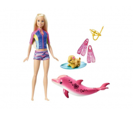 Mattel Barbie Nurkowanie z delfinem zestaw (FBD63)