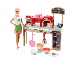 Mattel Barbie Zestaw Pizzeria z lalką (FHR09)