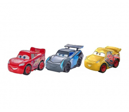 Mattel Disney Cars Mikroauta trzypak Racer (FLG67 FPT71)