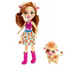Mattel Enchantimals lalka ze zwierzątkiem Cailey Cow (FNH22 FXM77)