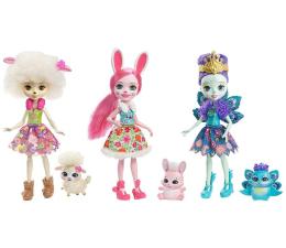 Mattel Enchantimals Trzypak Lalki ze Zwierzątkami (FMG18)