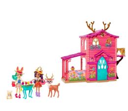 Mattel ZESTAW Enchantimals Domek jelonków + Dwupak lalek (FDG01 + FRH50)