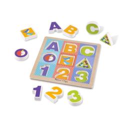 Melissa & Doug Ogromne puzzle drewniane ABC (11899)