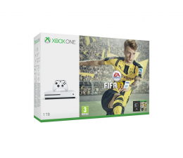 Microsoft Xbox ONE S 1TB 4K HDR +FIFA 17+6M Live Gold+1M EA (234-00032)