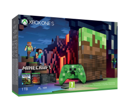 Microsoft Xbox One S 1TB Minecraft Limited Ed+6MSC GOLD (23C-00011)