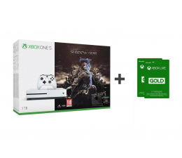 Microsoft Xbox One S 1TB Shadow Of War + 6M Live Gold (234-00189)