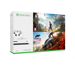 Microsoft Xbox One S 1TB+Forza H4 + Assassin's Creed Odyssey