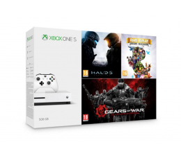 Microsoft Xbox One S 500GB + Halo 5 + Rare Replay + GoW (ZQ9-00012)