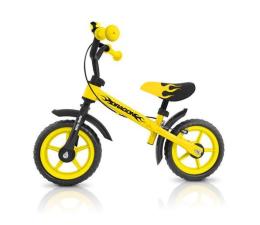 MILLY MALLY Rowerek biegowy Dragon z hamulcem żółty (5901761120820)