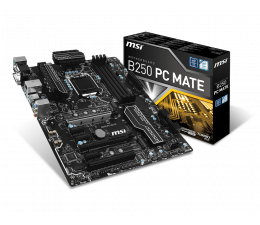 MSI B250 PC MATE (2xPCI-E DDR4 USB3.1/M.2)