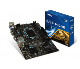 MSI B250M PRO-VD (3xPCI-E DDR4 USB3.1/M.2)