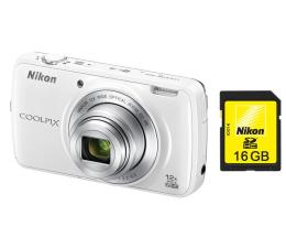 Nikon Coolpix S810C biały + karta 16GB