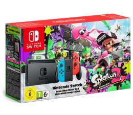 Nintendo Switch Neon Joy-Con + Splatoon 2 (045496452346)