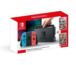 Nintendo Switch Neon + Splatoon 2 + Mario Odyssey (NSH025)